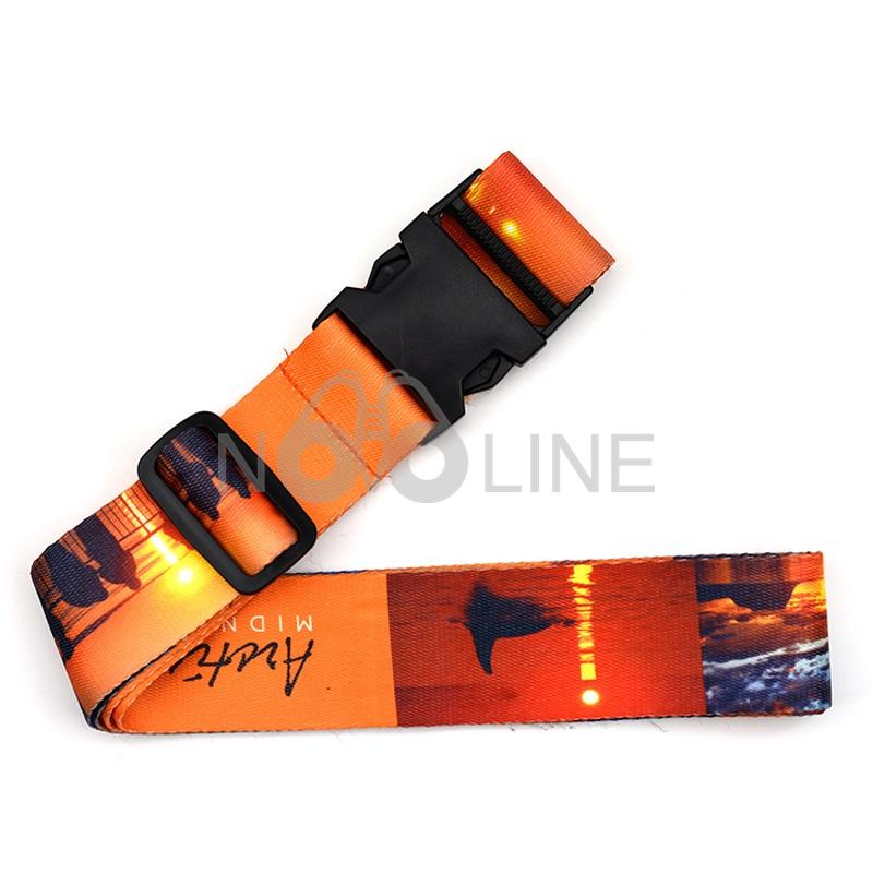 Dye-Sublimated Baggage Belt / Cross Luggage Straps With Buckle - 副本