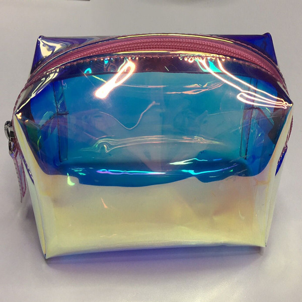 Iridescent Cosmetic Zip Bag