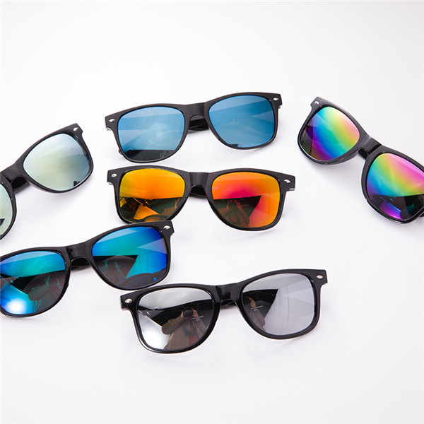 Classic Neon Sunglasses with Mirrored Lens