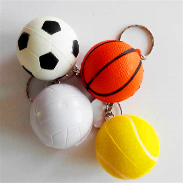 PU Basketball/ Football/ Volleyball Keychain