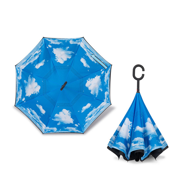 Double Layer Inverted Umbrella Reversed Umbrella 41 inch