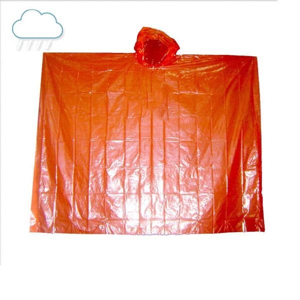PE Fashion Translucent Raincoat Ponchos