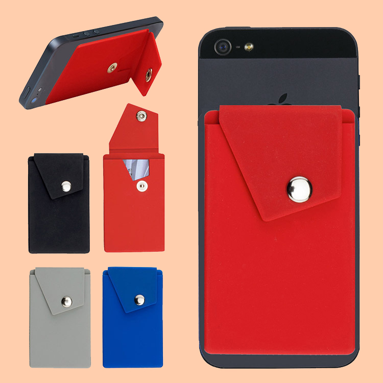 Silicone Phone Pocket Card Case