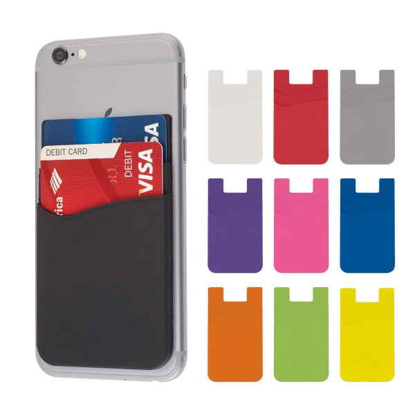 Dual Silicone Cell Phone Wallet