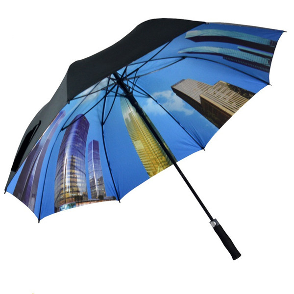 Double Layers Straight Automatic Umbrella