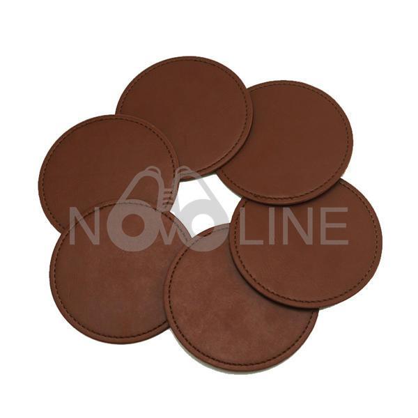 Pu Leather Round Coaster