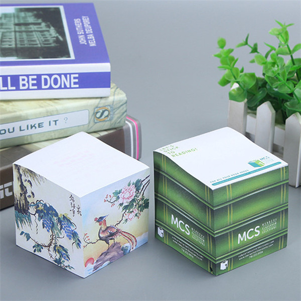 Note Cube Note Pad Block with Sticky Back 500 Sheets