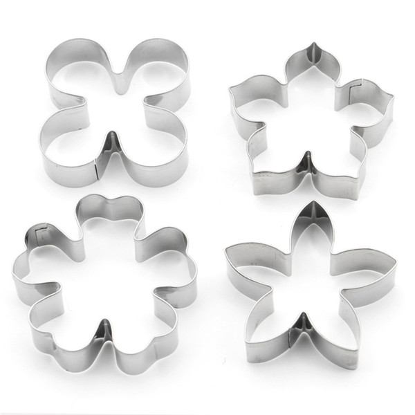 Stainless Steel Cookie Cutters Smiling Face Animal Tree