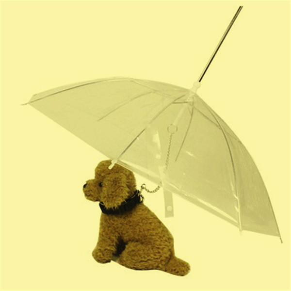 Clear Dog Umbrella with Leash Pet Umbrella