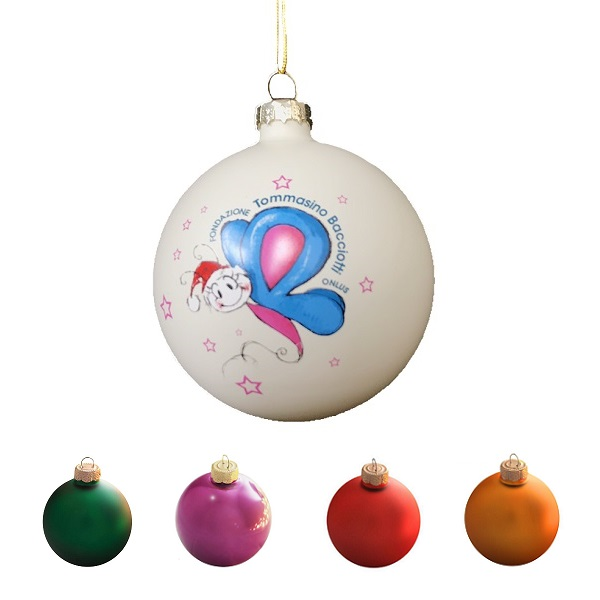 Custom 3.2 inches Glass Ball Ornament