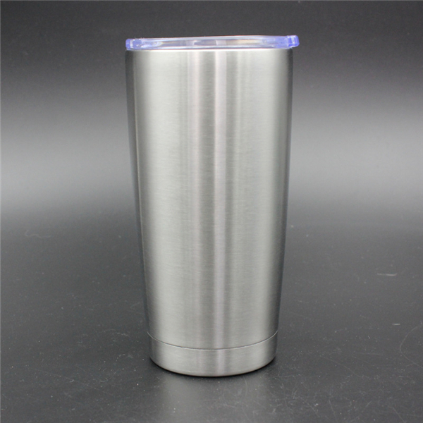 20oz Stainless Steel Travel Tumbler with Clear Lid
