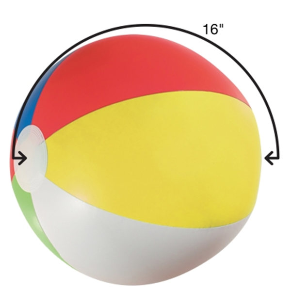 16 inches 6 Colors Beach Ball Inflatable Ball