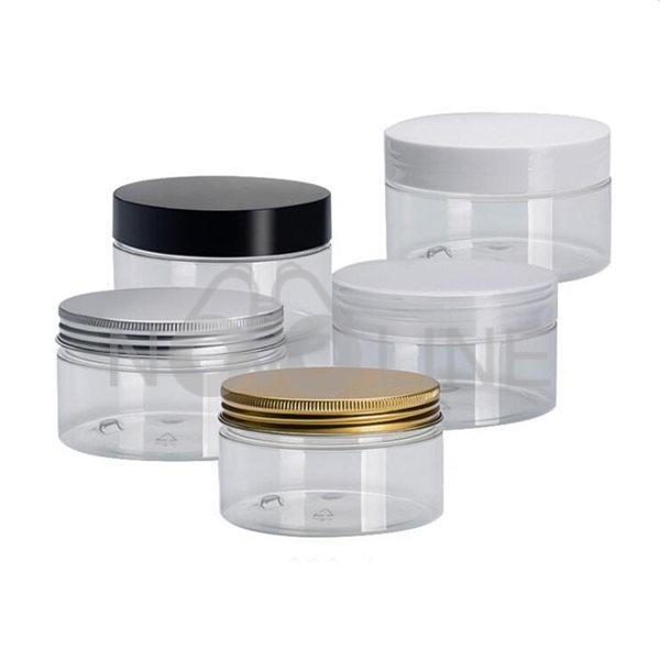 4oz Clear PET Plastic Refillable Travel Jar for  Cosmetics