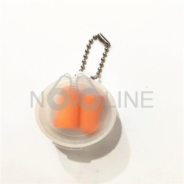 Multicolor Ear Plugs In Clear Case With Chain