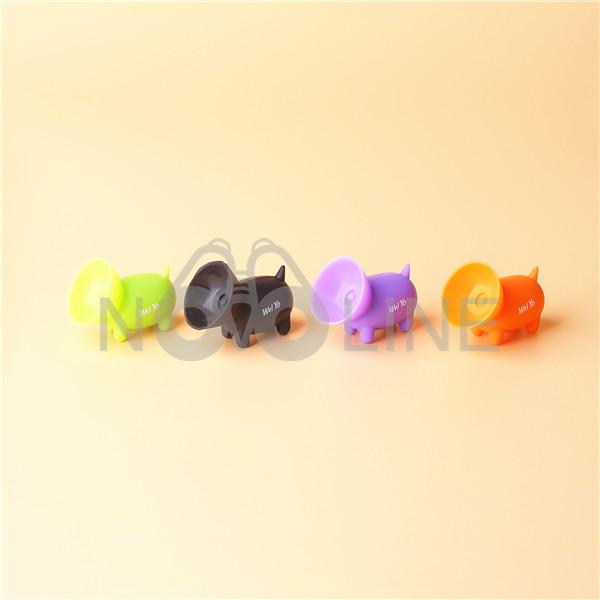 Mini Pig Shaped Silicone Rubber Suction Cup Phone Holder