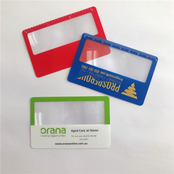 Credit Card Size Magnifier Paper Thin Magnifier