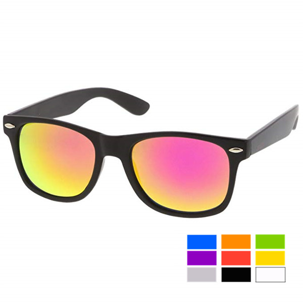 Adult Sized Sunglasses with Colorful Mirror Lenses