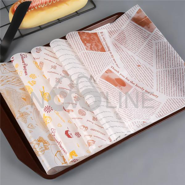 Greaseproof Hamburger Paper Sandwich Paper Food Grade Wrapping Paper
