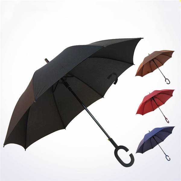 46 inches Auto Open Umbrella with C Shape Handle