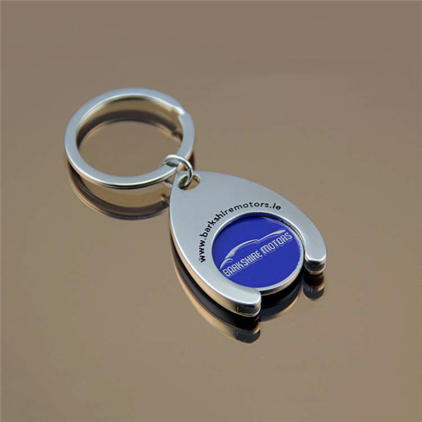 Customized Shopping Cart Coin with Key Chain