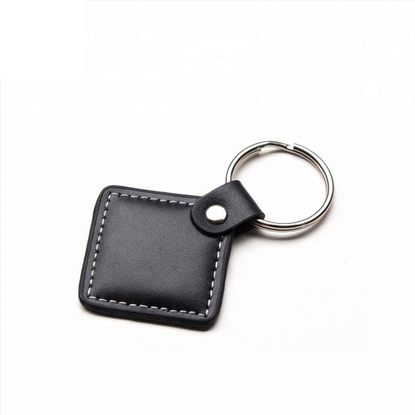 Custom Shape Size Logo Printed Car Leather Keychain
