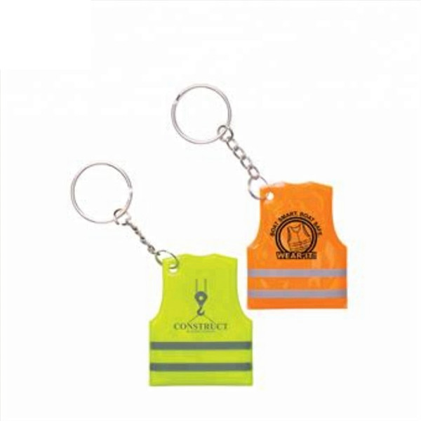 Reflective Safety Vest Keychain