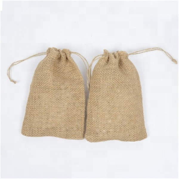 Jute Amenity Drawstring Bag