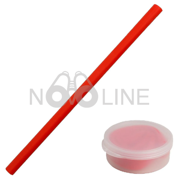 Silicone Straw in Case - Circle