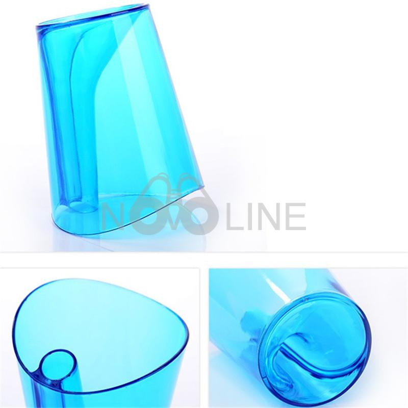 Transparent Toothbrush Cup with Holder