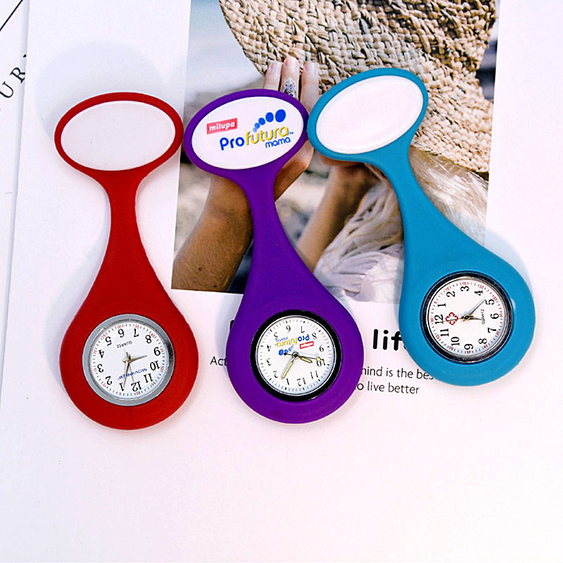 Silicone Watch for Nurses - Brooch Style