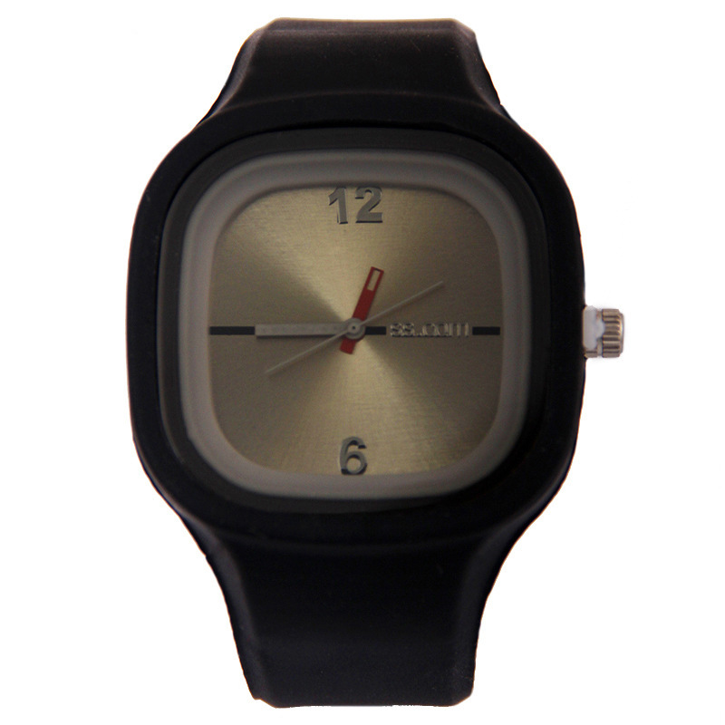 Square Silicone  Electronic Watch