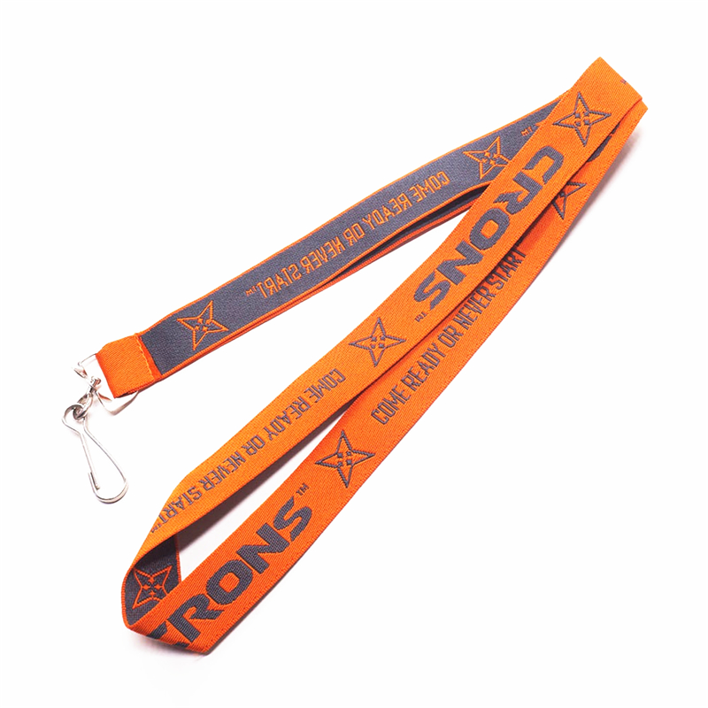 Jacquard Woven  Polyester lanyard with J-hook