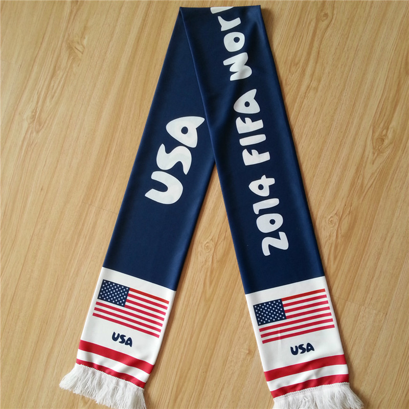World Cup Polyester Scarf with Full Color Imprint