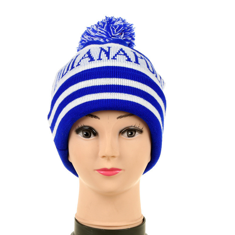 Jacquard Pom Beanie With Top Ball