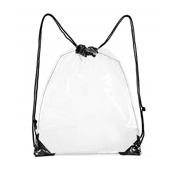 Clear Vinyl Drawstring Beach Bag