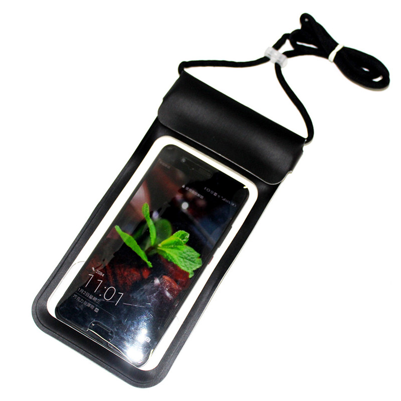 PU Waterproof Phone Pouch With Lanyard