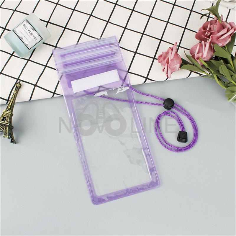 PVC Clear Waterproof Phone Pouch With Cord