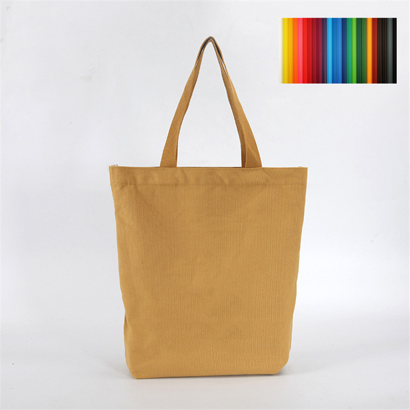 Hidden Zipper Canvas Tote Bag