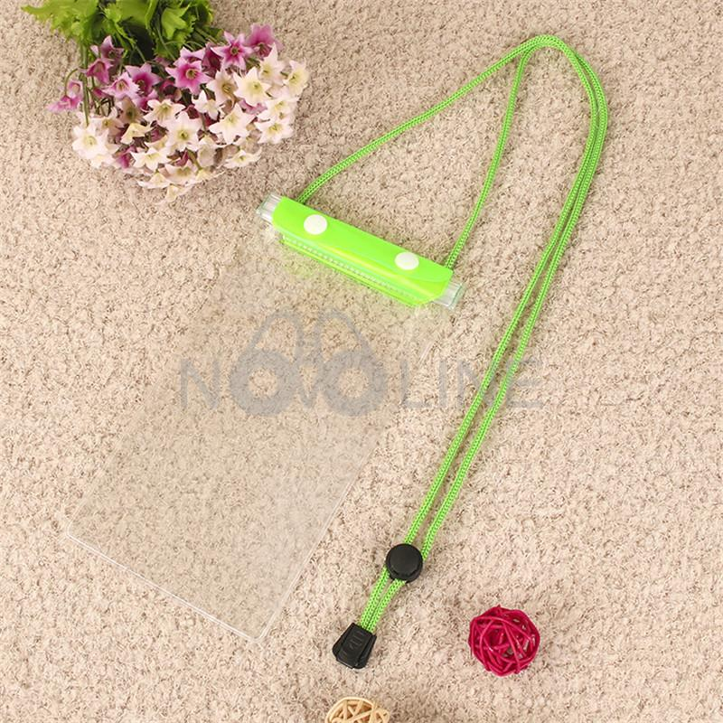 Colorful PVC  Waterproof Phone Pouch With Cord