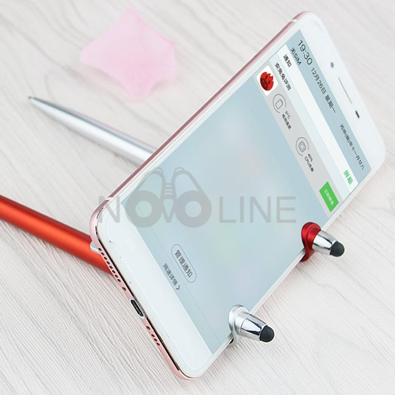 3-in-1 Plastic Pen with Stylus and Cell Stand