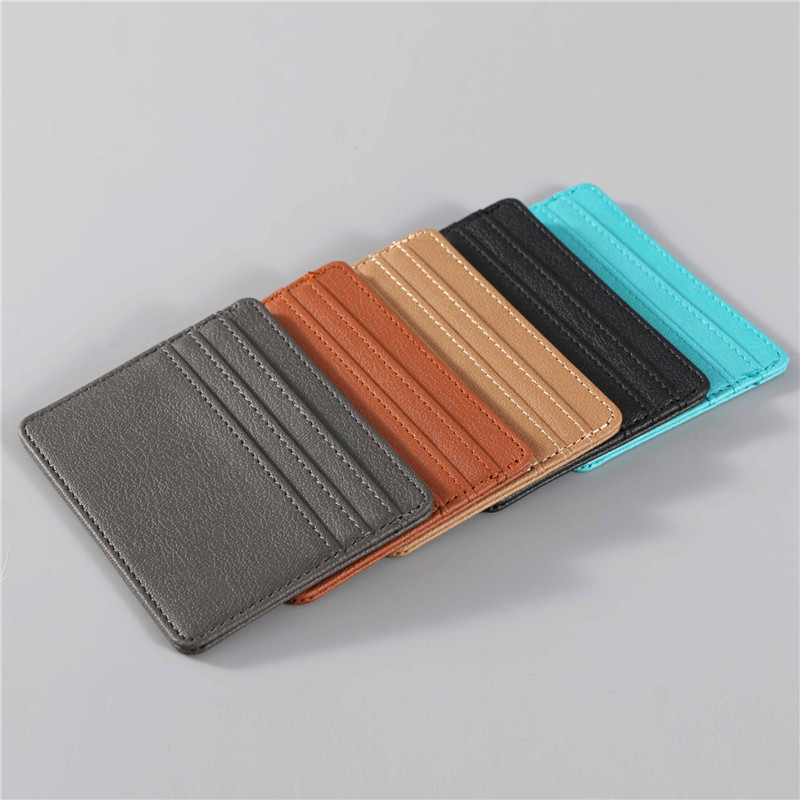 Multicolor PU Leather Card Holder