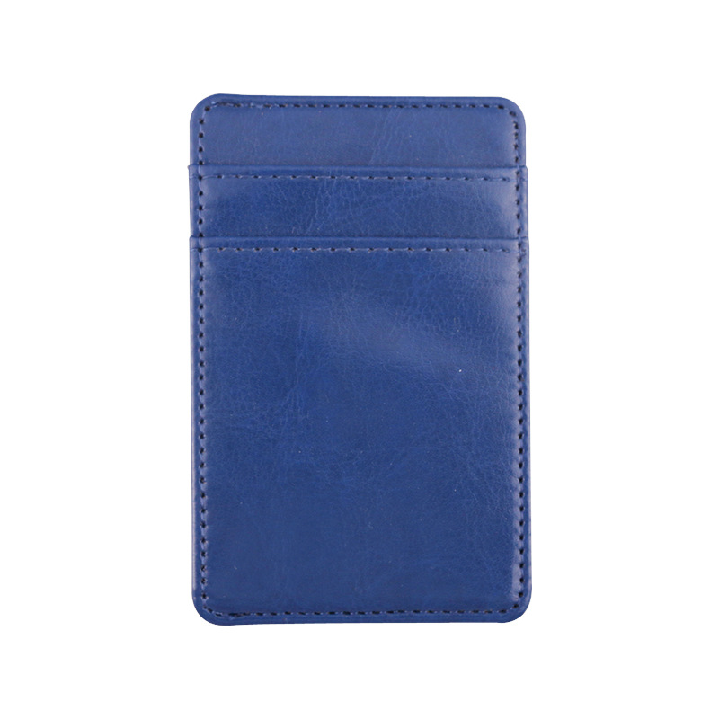 Zippered PU Leather Credit Card Pocket