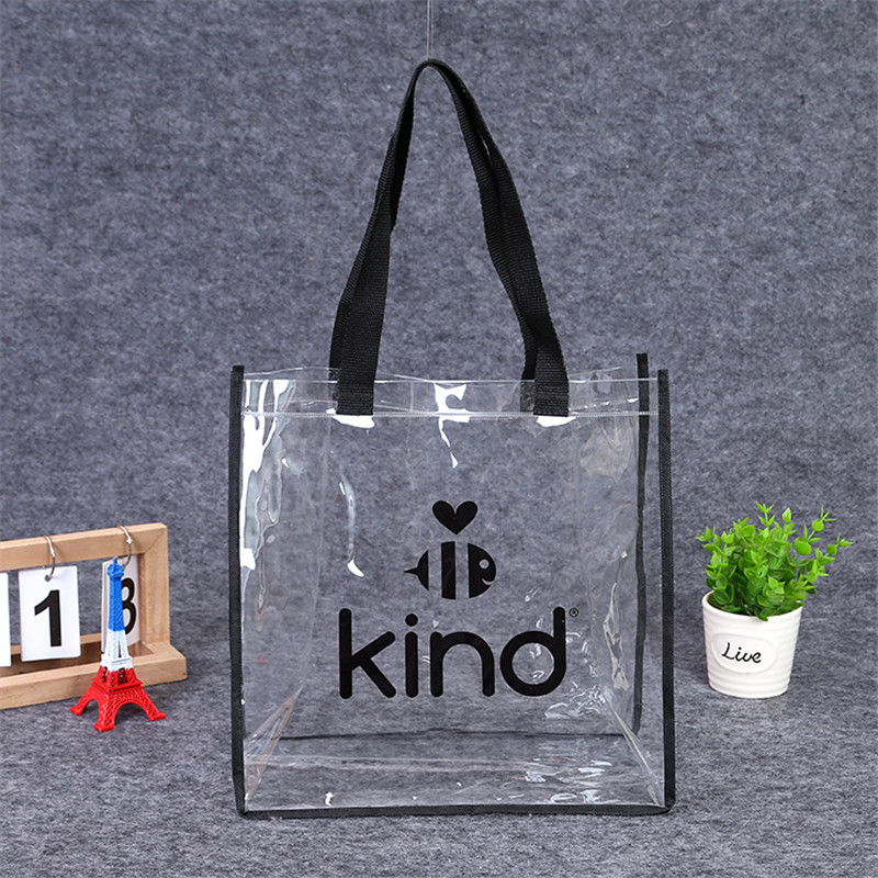 Clear Plastic Bag With Polyester Handles