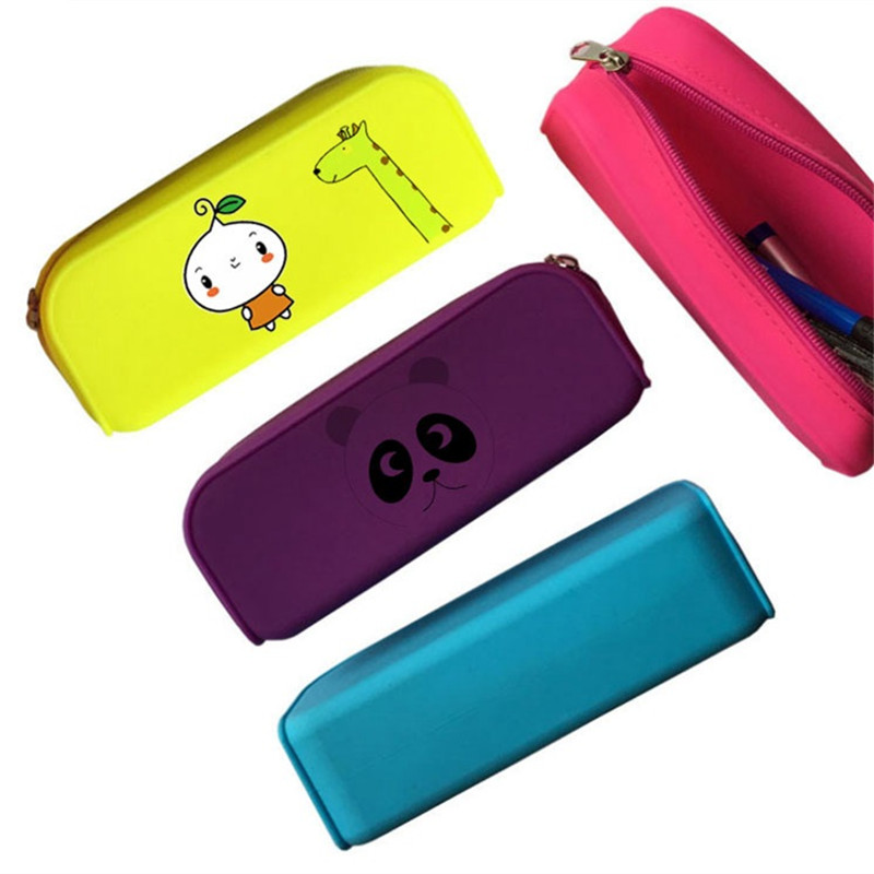 Silicone Pen Pencil Case with Zipper
