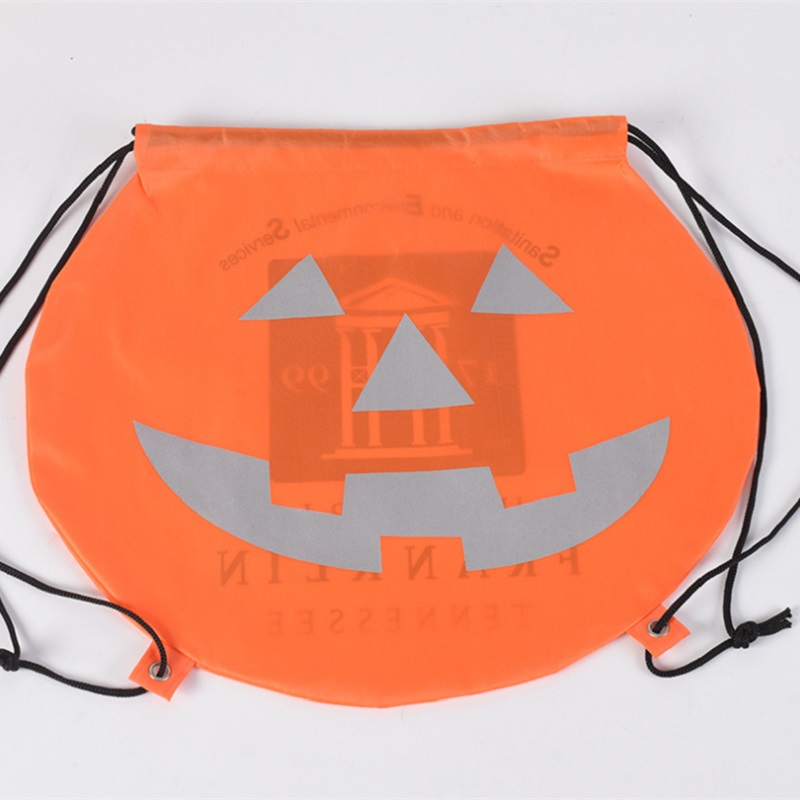 Custom Pumpkin Drawstring Bag
