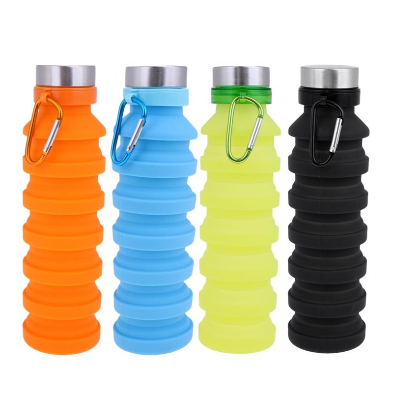 Silicone Portable Travel Water Bottle