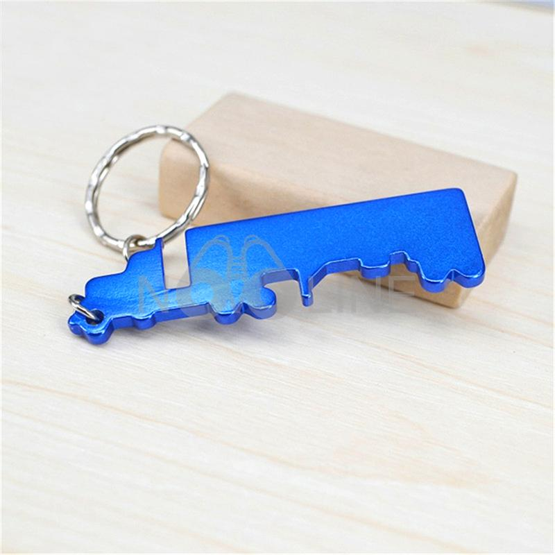 Aluminum Truck Shaped Bottle Opener with Keychain